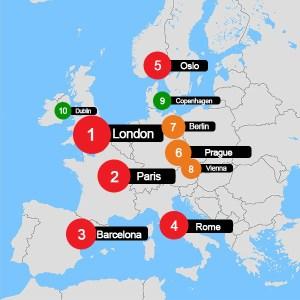 2016 Top 10 Destinations In Europe