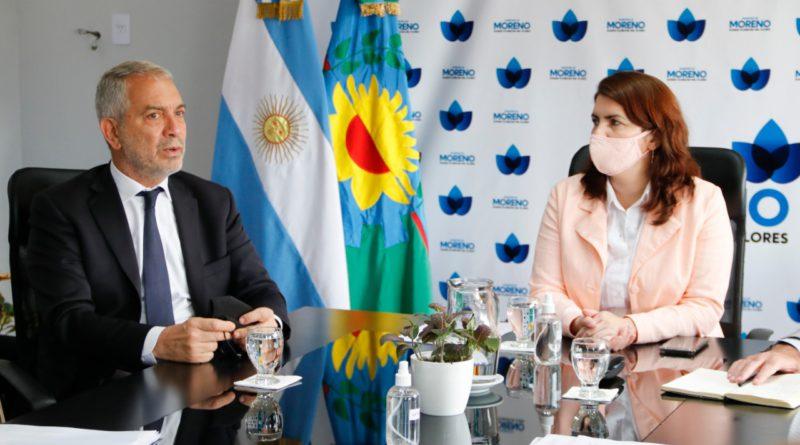 MARIEL FERNÁNDEZ SE REUNIÓ CON EL MINISTRO ALAK EN MORENO* – Radio Chicharra