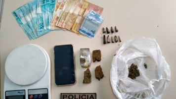 Polícia visita lavação do tráfico em Canelinha