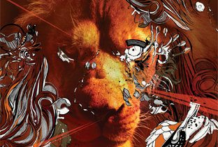 Life by James Zabiela cover album with a lion face
