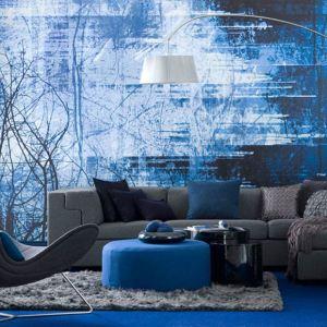 interior living modern accente vintage albastru electric culoarea anului 2014