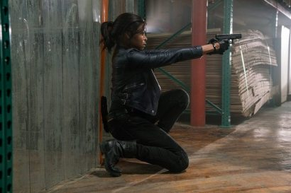 A ferociously determined Mary(Taraji P. Henson) arrives at the warehouse to save Danny in Screen Gems' PROUD MARY.