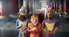The Three Wise Kings including Casper (Joel Osteen, center) in Sony Pictures Animations' THE STAR.