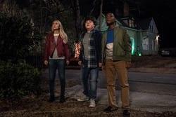 Madison Iseman (Sarah) Jeremy Ray Taylor (Sonny) Caleel Harris (Sam) in Columbia Pictures' GOOSEBUMPS 2: HAUNTED HALLOWEEN.