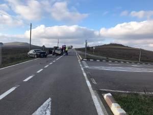 Două persoane rănite în urma unui accident rutier