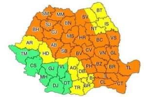 Cod portocaliu la Tulcea până la ora 23