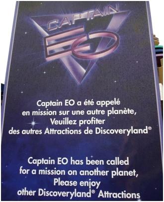 Captain EO closed