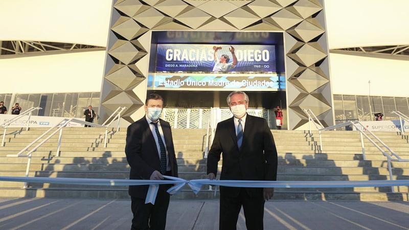 """Alberto Fernández inauguró el Estadio """"Madre de Ciudades"""" en Santiago del Estero"""