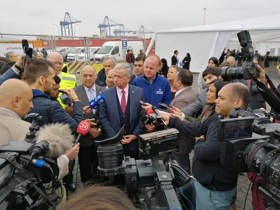 lanzamiento del nuevo Sistema de Comercio Exterior en el Puerto de Coronel