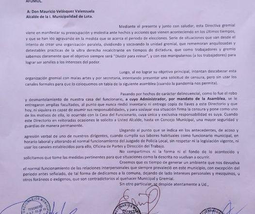 EL RECLAMO FORMAL DE FUNCIONARIOS MUNICIPALES CONTRA ALCALDE MAURICIO VELASQUEZ.