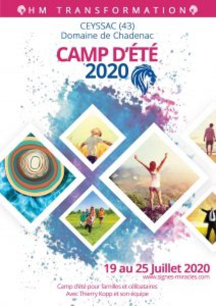 CAMP D'ÉTÉ   19 AU 25 JUILLET 2020   Domaine de Chadenac (43)