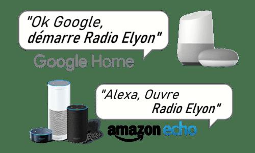 Comment écouter Radio Elyon  sur les enceintes connectées ?
