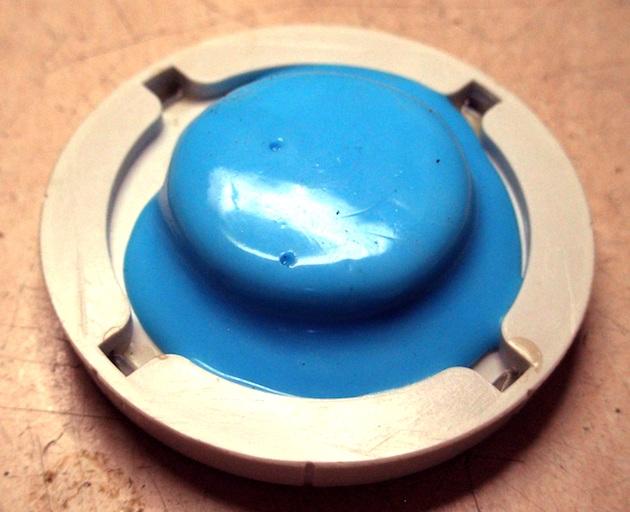 Reconstrucción de botones de radios antiguas. Radio Marconi am289 - Boton dial -7