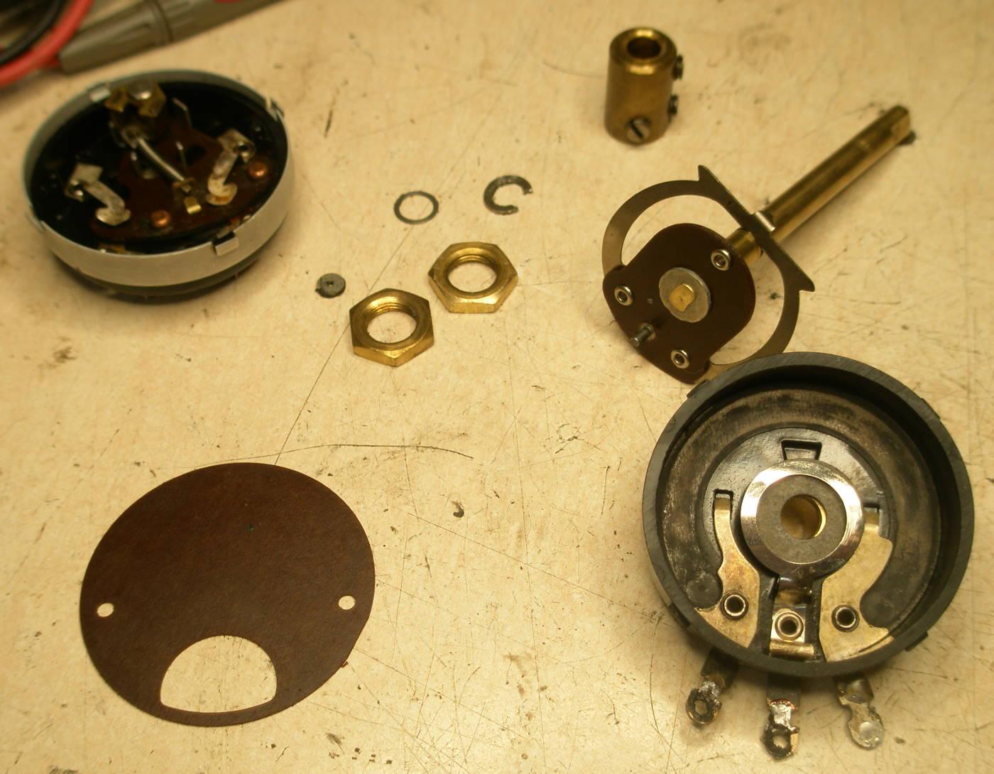 Reparación Potenciómetro radio antigua - Autoradio Philco mod 7 - 4