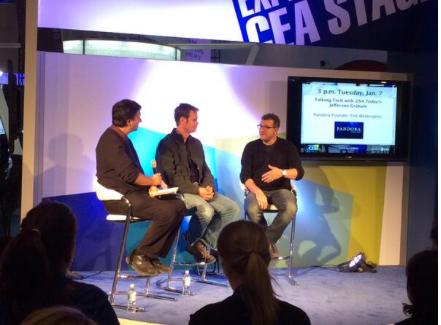 Jefferson Graham talks tech with Pandora Radio's Tim Westergren at the Experience CEA stage