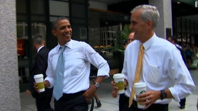 President Obama Makes a Starbucks Run