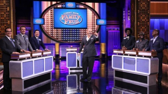 Jimmy Fallon and The Roots Involved in Family Feud