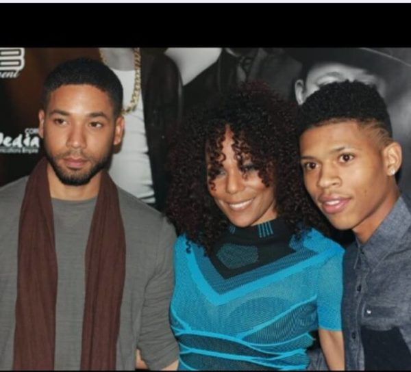 Jasmine Saunders hangs out with Jussie Smollett and Bryshere Y. Gray from Empire 1