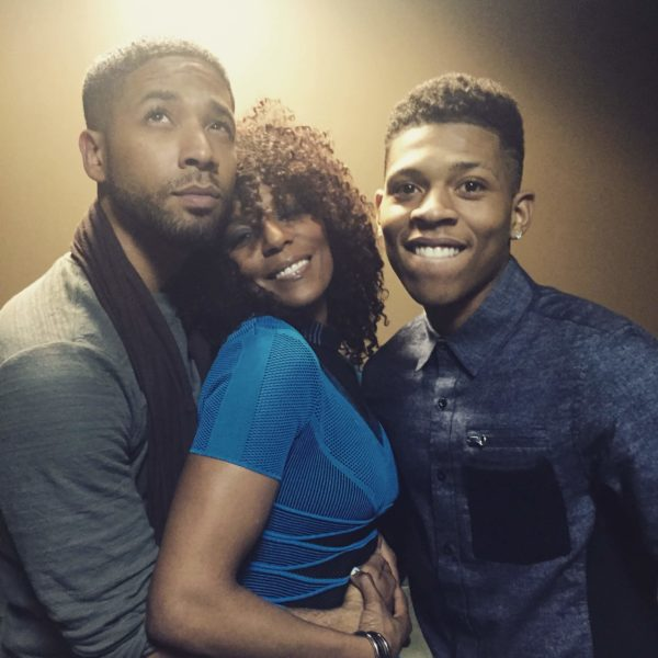 Jasmine Saunders hangs out with Jussie Smollett and Bryshere Y. Gray from Empire 4