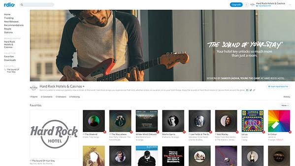 Hard Rock Hotels & Casinos Partners with RDIO to Launch New Station