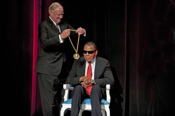 Muhammad Ali Accepts University of Louisville Grawemeyer Spirit Award