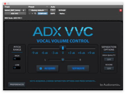 Audionamix Unveils DJ Voxchanger - The First App that Separates and Transforms Vocals within a Song