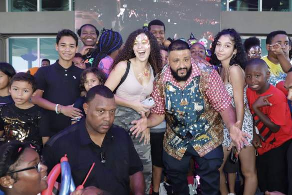 MIAMI, FLORIDA - OCTOBER 27:  DJ Khaled is seen with the youth during Asahd's 3rd Birthday Halloween Bazaar at American Airlines Arena on October 27, 2019 in Miami, Florida. (Photo by John Parra/Getty Images for We The Best Foundation)
