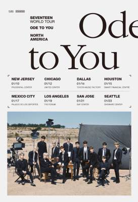 "K-POP SUPERSTARS SEVENTEEN ""ODE TO YOU"" TOUR VENUES ANNOUNCED"