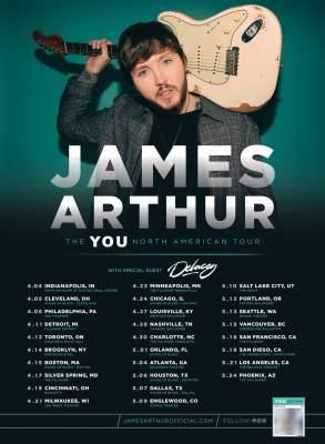 JAMES ARTHUR ANNOUNCES  2020 NORTH AMERICAN 'THE YOU TOUR' DATES