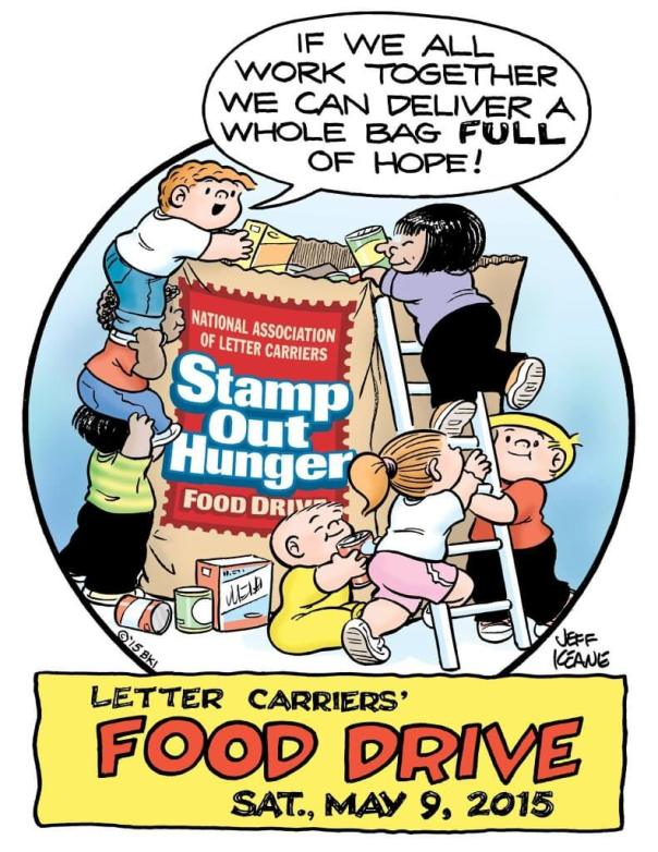 Help by leaving non-perishable food items at your mailbox Saturday