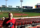 At Fenway with my Portland Sea Dogs cap.