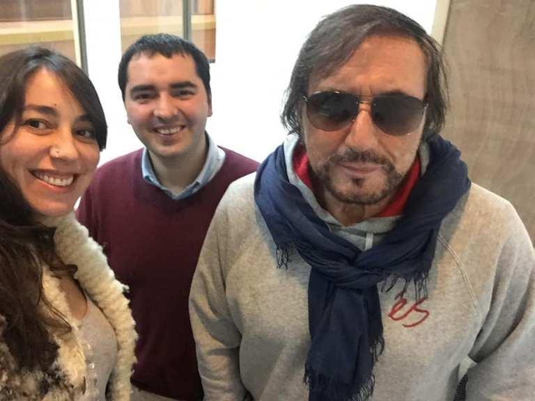 Con Carlos Pinto y Patricia Rada