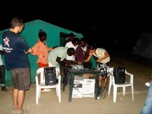 Preparazione della radio per la grande festa di Radio Ghetto. 2012