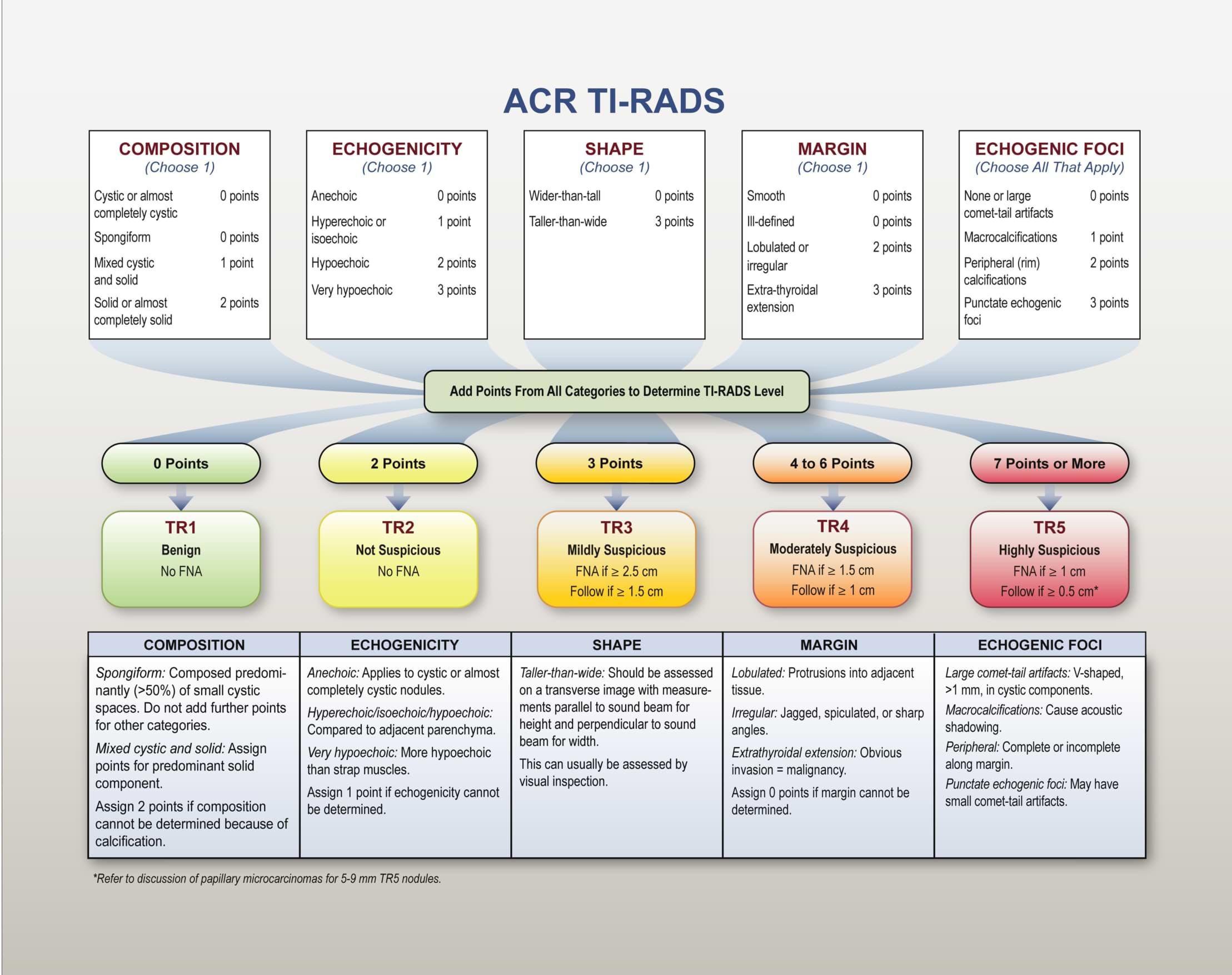 Updated Tirads Calculator Emulates Acr Chart