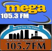 Mega 105.3 WJSJ North Florida Progressive Talk 105.7 WHJX Tama Jacksonville 1010 XL WJXL 92.5 WFJO