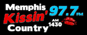 Memphis Kissin' Country 1430 WOWW 97.7 Flinn Kix 106 Germantown Bartlett