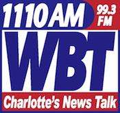 1110 WBT Charlotte AM HD Radio Digital Test 1660 WBCN