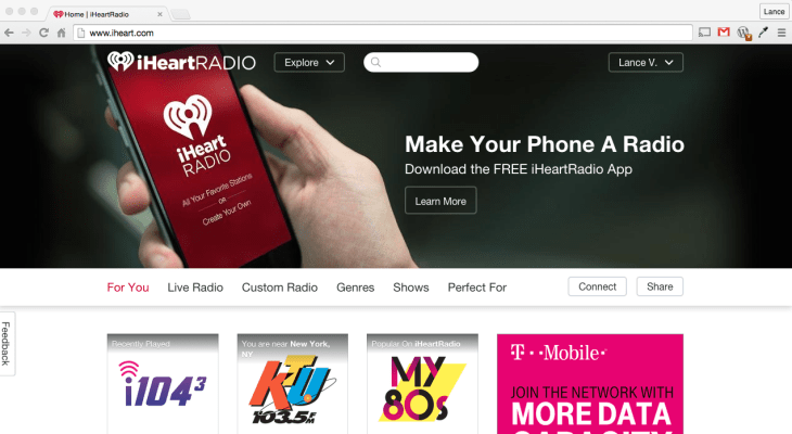 iHeart iHeartRadio NextRadio Radio Phone