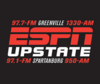 ESPN Upstate 97.7 1330 WYRD Greenville 97.1 950 WORD Spartanburg
