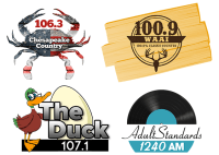 106.3 The Heat Chesapeake Country WCEM-FM 100.9 100.9% Pure Classic Country WAAI Draper Media WBOC