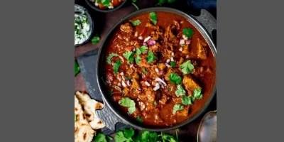 Steak curry in pressure pot