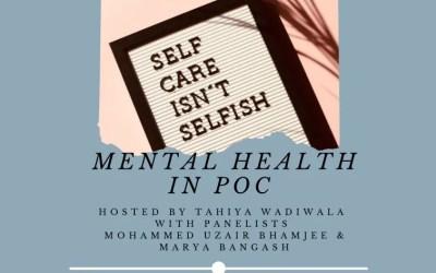 Panel Discussion – Mental Health hosted by Tahiya Wadiwala