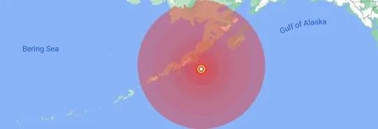 Tsunami Warnings Issued After Huge 8.2 Magnitude Quake Hits Alaska Peninsula