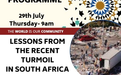 The Social Programme – Lessons From The Recent Turmoil In South Africa