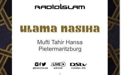 Ulama Nasiha Mufti Tahir Hansa Pietersburg