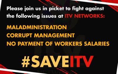 Communication Workers Union Picket at ITV