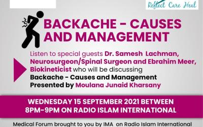 Medical Programme – Backache | Causes and Management