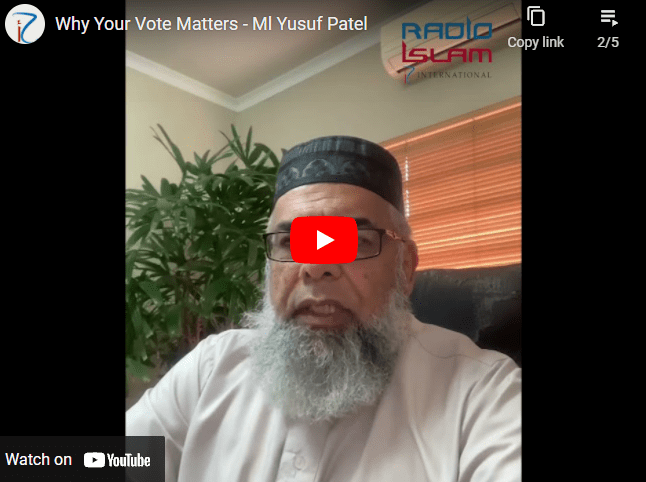 Why Your Vote Matters – Ml Yusuf Patel