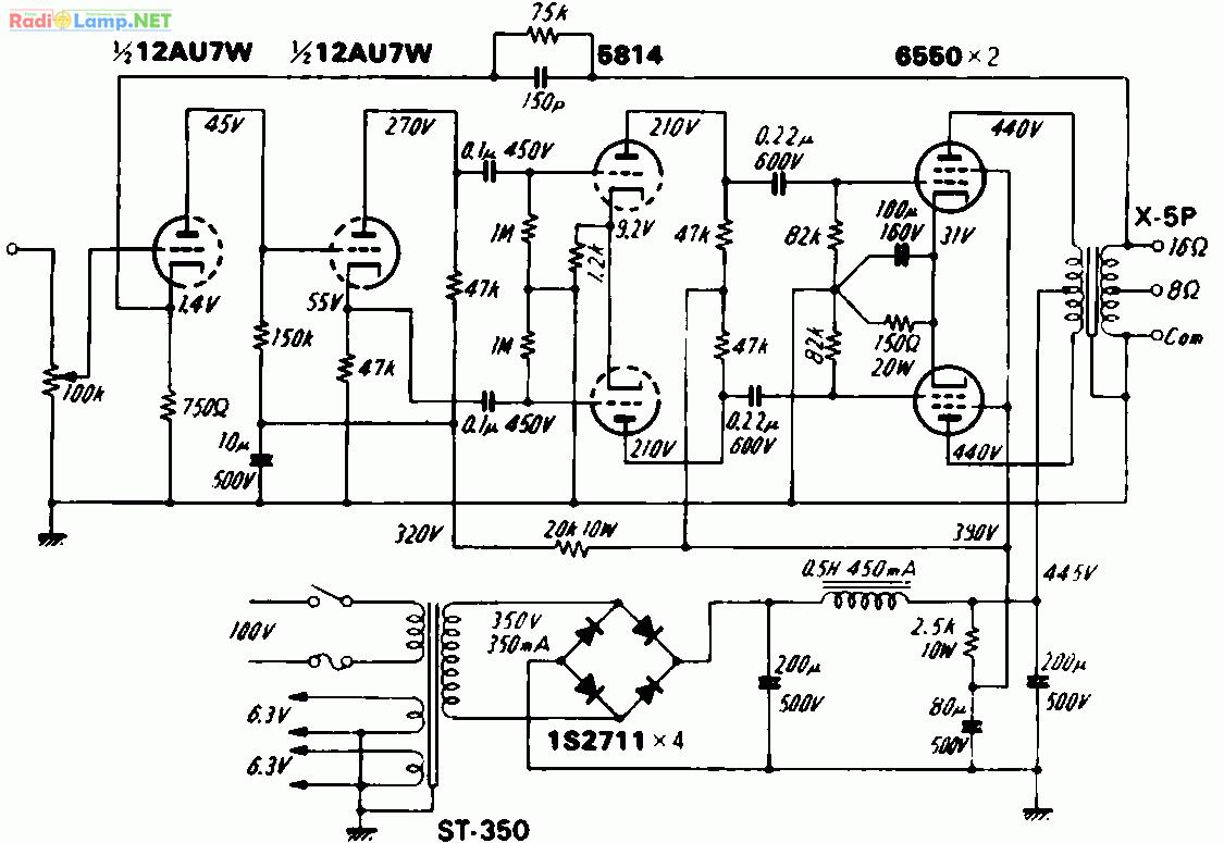 El34 Push Pull Amp Schematic Kit