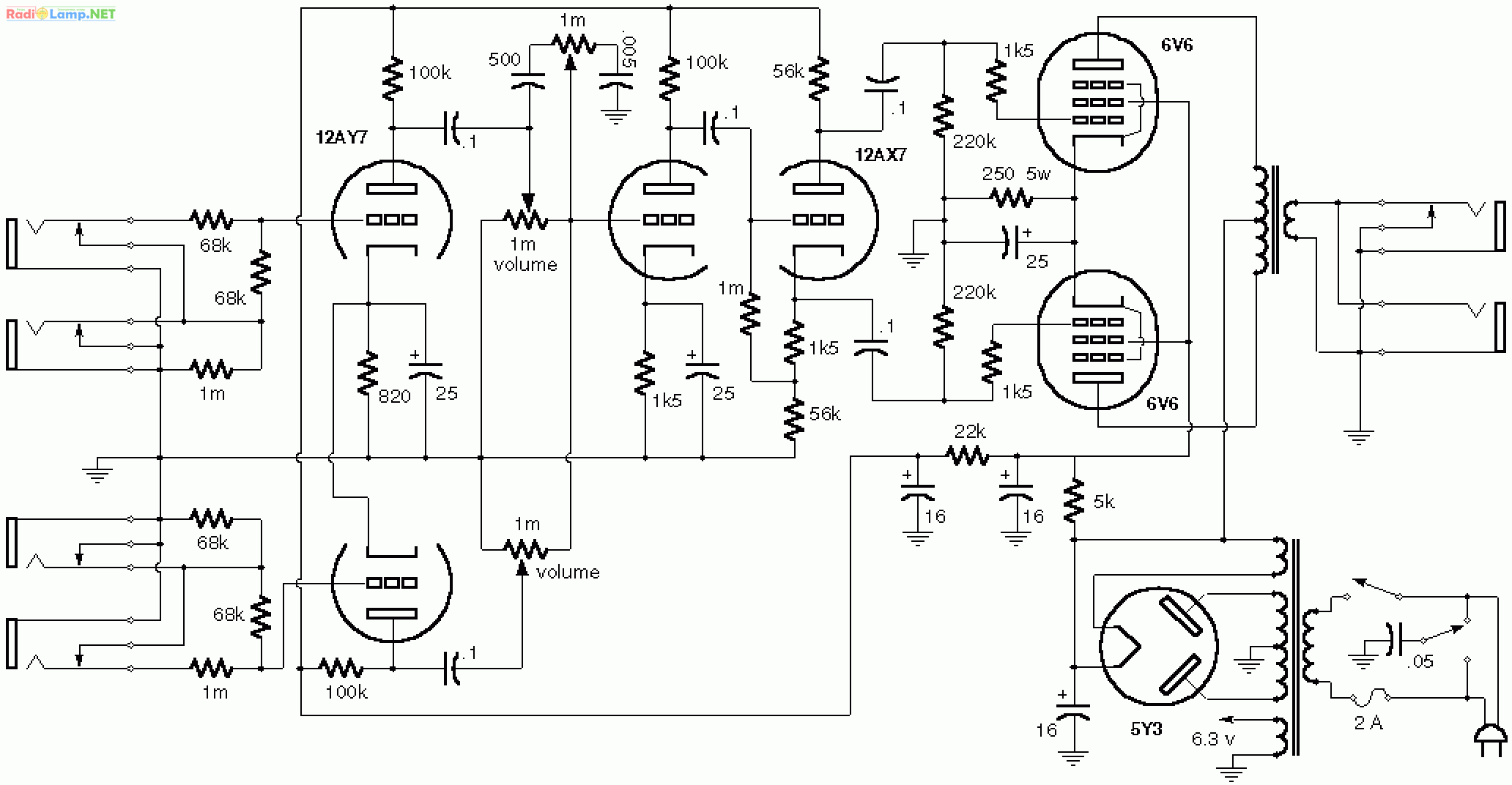 Fender 5e3 Schematic